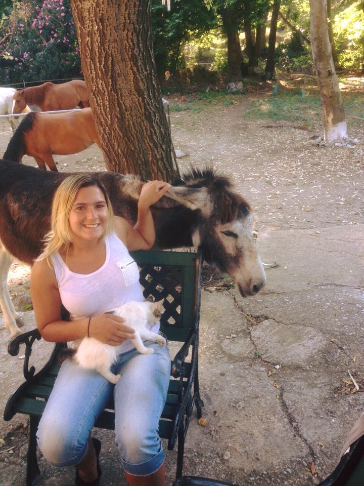 Paardrijden en knuffelen met lieve dieren