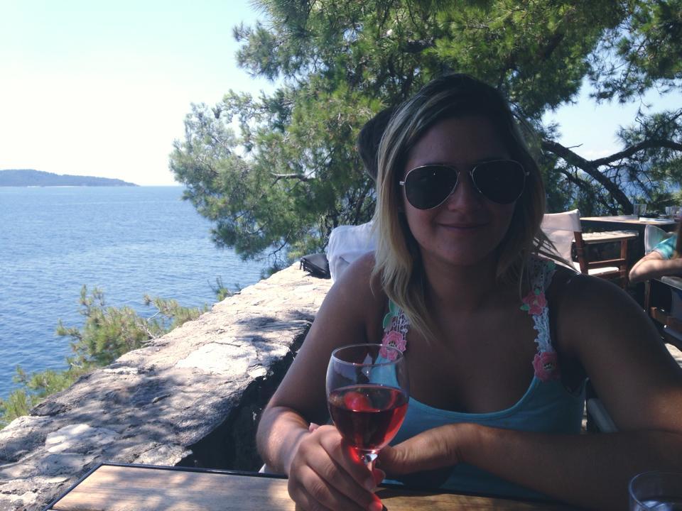 Laatste dagje op Skiathos met een lekker rosé'tje bij Bourtzi