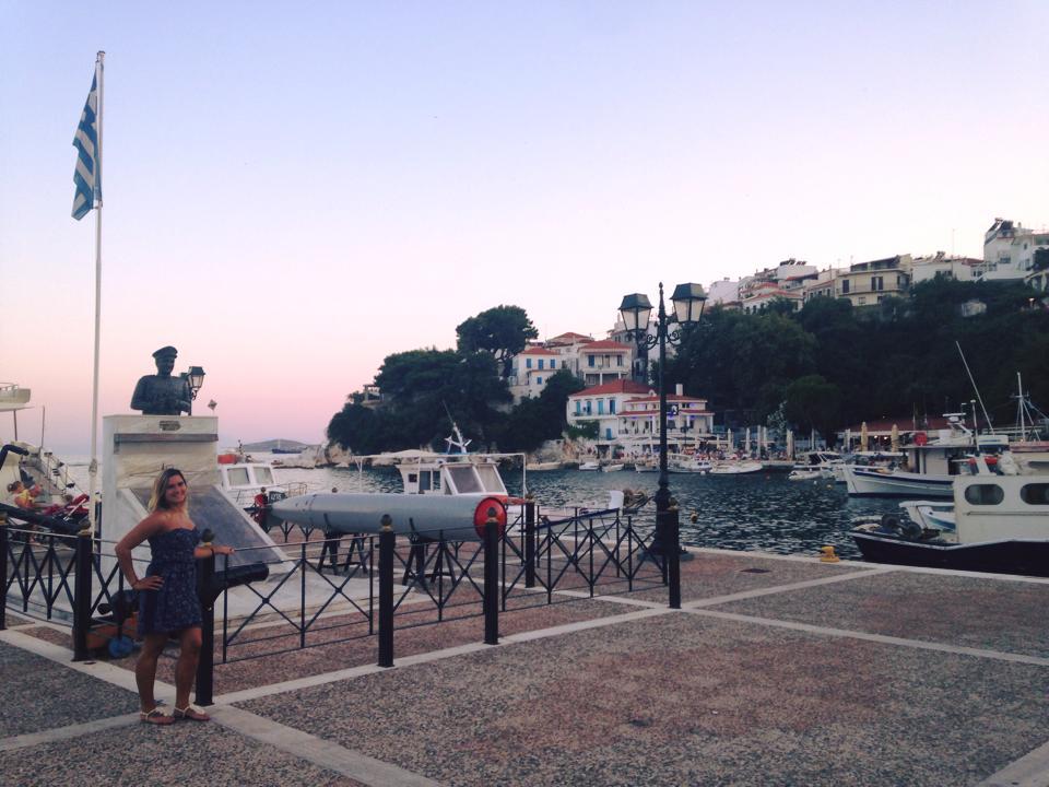 Bij dit haventje werd een scène van Mamma Mia opgenomen