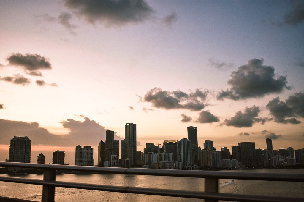 Miami skyline sunset casa borita
