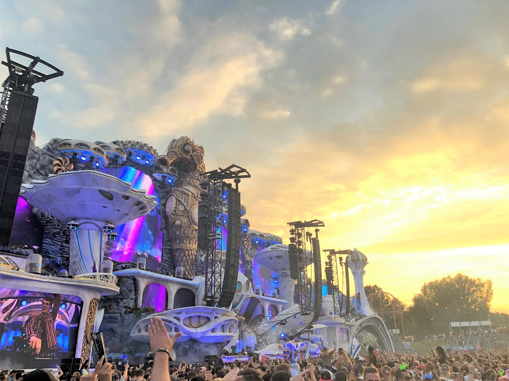 Mainstage during sunset