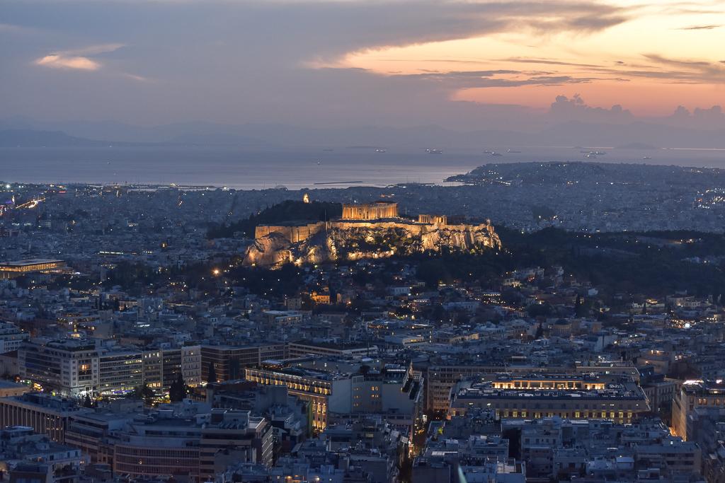 Lykavittos Hill Acropolis Athens Casa Borita